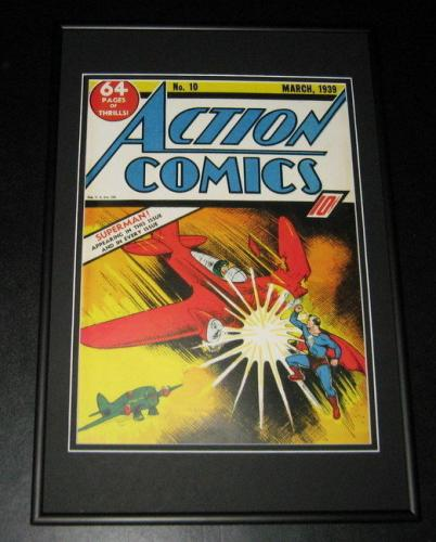 Action Comics #10 Framed 10x14 Cover Poster Photo Superman