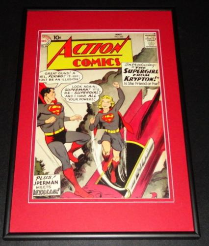 Action Comics #252 Framed 10x14 Cover Poster Photo Superman Supergirl
