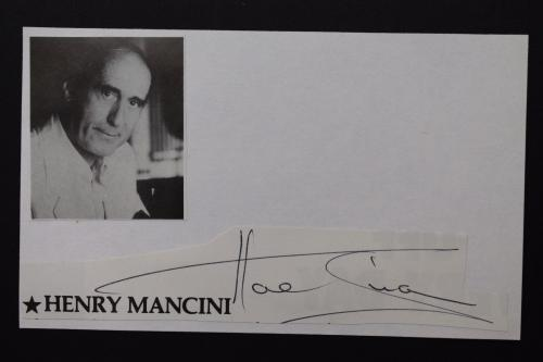 Actor Hal Linden Signed Mounted Cut Autograph Index Card F14