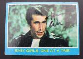 Actor HENRY WINKLER The Fonz Happy Days 1976 Autograph Card #7 Signed 16D