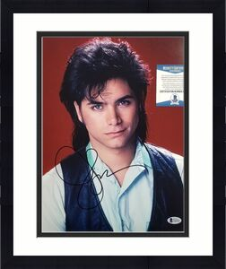 Actor JOHN STAMOS Signed 11x14 Photo Autograph (A) ~ Beckett BAS COA