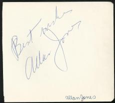 Actor & Tenor Allan Jones (d.92) Signed Auto Vintage Album Page TOUGH  M7