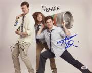 Adam Devine Blake Anderson Anders Holm Signed 'Workaholics' 11x14 Photo PSA 7826