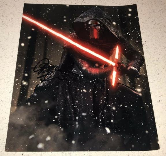 Adam Driver Signed Autograph New Star Wars Ben Solo Action 11x14 Photo Proof Coa