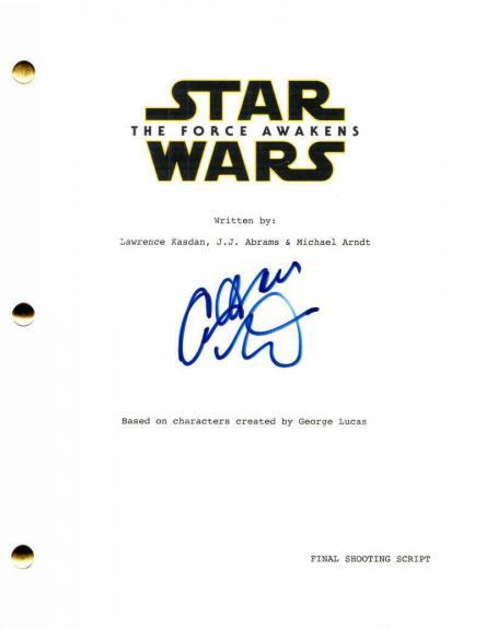 Adam Driver Signed Autograph - Star Wars The Force Awakens Movie Script Kylo Ren