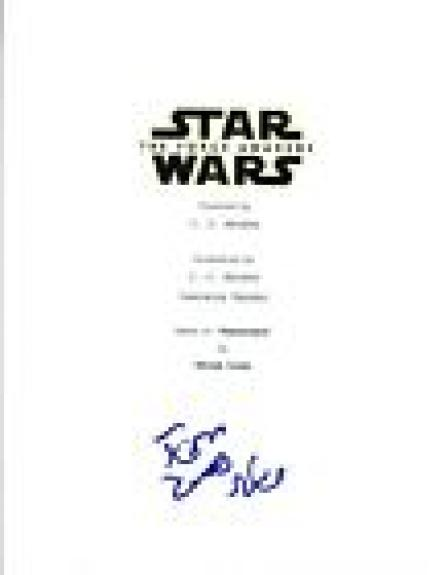 Adam Driver Signed Autographed STAR WARS THE FORCE AWAKENS Script COA VD