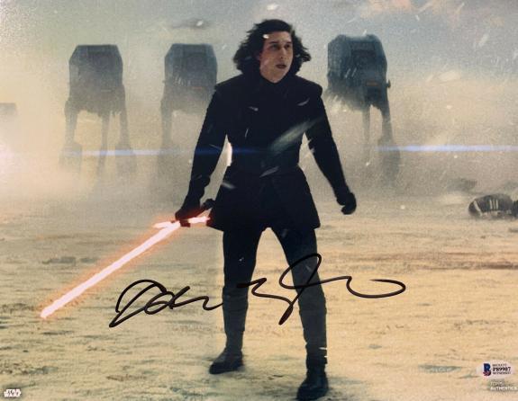 Adam Driver Signed Star Wars Jedi, Skywalker 11x14 Photo Kylo Ren Beckett BAS 10