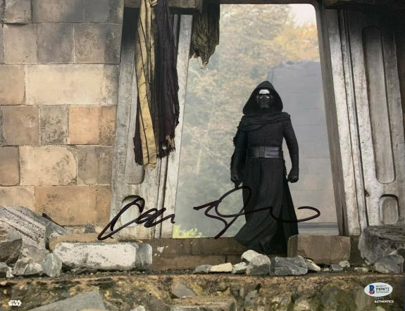 Adam Driver Signed Star Wars Jedi, Skywalker 11x14 Photo Kylo Ren Beckett BAS 16