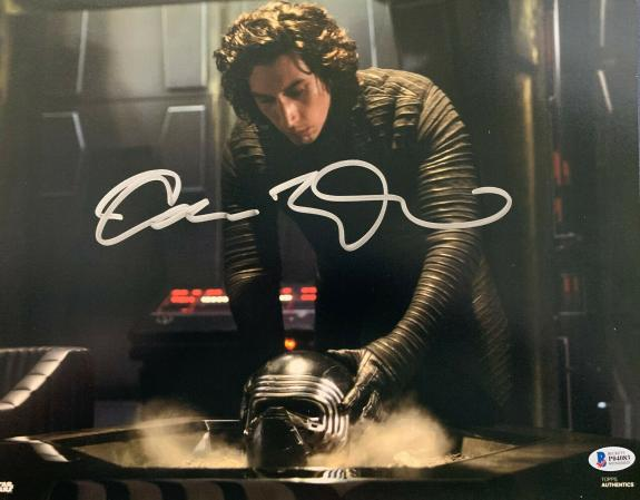 Adam Driver Signed Star Wars Jedi, Skywalker 11x14 Photo Kylo Ren Beckett BAS 3