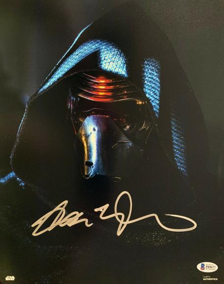 Adam Driver Signed Star Wars Jedi, Skywalker 11x14 Photo Kylo Ren Beckett BAS 9