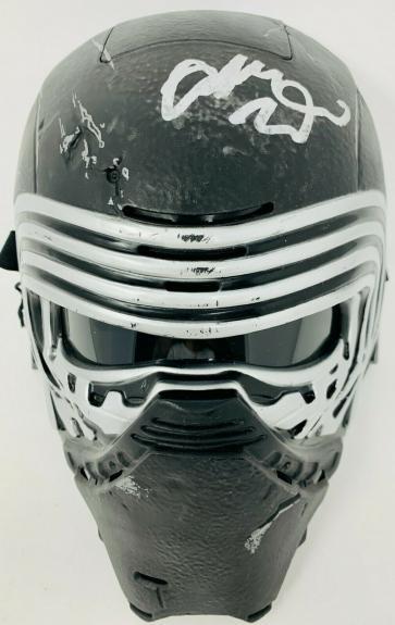 Adam Driver Signed Star Wars Kylo Ren Mask Helmet Beckett BAS Witnessed COA
