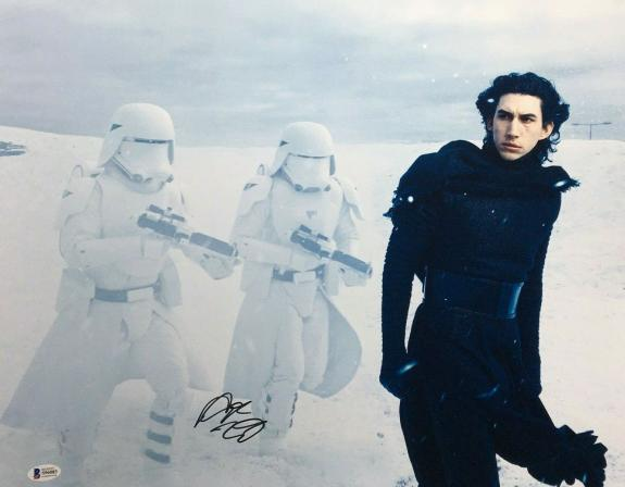 Adam Driver Signed Star Wars:The Force Awakens 16x20 Photo *Kylo Ren BAS S96083