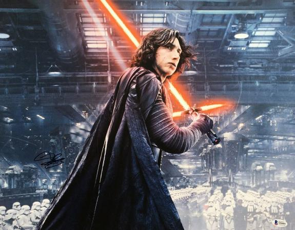 Adam Driver Signed Star Wars:The Force Awakens 16x20 Photo *Kylo Ren BAS S96085