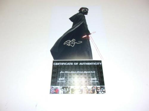 Adam Driver Star Wars Kylo Ren W/coa Signed 8x10 Photo