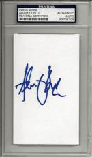 ADAM DURITZ SIGNED 3x5 INDEX CARD COUNTING CROWS PSA/DNA ENCAPSULATED 83706106