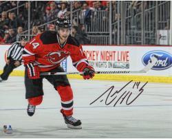 "Adam Henrique New Jersey Devils Autographed Horizontal Skating 8"" x 10"" Photograph"