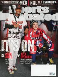 Adam Jones & Alex Ovechkin Autographed October 6, 2014 Sports Illustrated