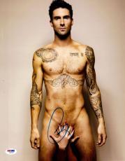 """Adam Levine Autographed 11"""" x 14"""" No Clothes Pose Photograph - PSA/DNA"""
