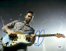 "Adam Levine Autographed 11"" x 14"" Playing Guitar Photograph - PSA/DNA"