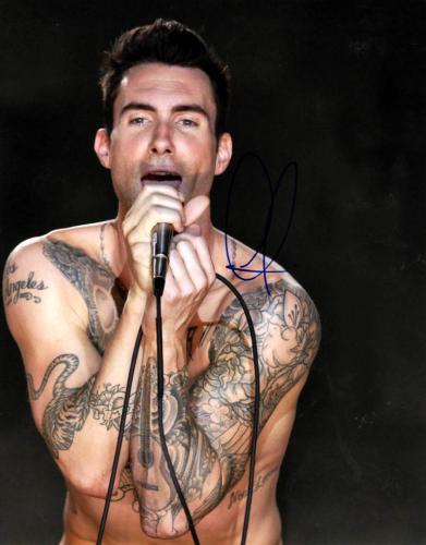 Adam Levine Autographed 11x14 Shirtless Poster Photo UACC RD AFTAL COA