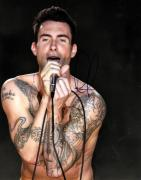 Adam Levine Autographed 11x14 Shirtless Poster Photo UACC RD AFTAL COA