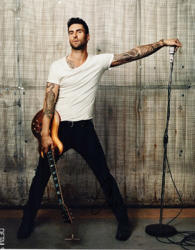 Adam Levine Signed - Autographed Maroon 5 Concert 11x14 inch Photo - Guaranteed to pass PSA or JSA - The Voice Judge