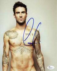 Adam Levine Shirtless Maroon 5 Autographed Signed 8x10 Photo Certified JSA COA