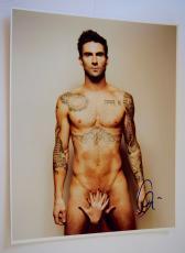 Adam Levine Signed Autographed 11x14 Photo Maroon 5 Shirtless COA VD
