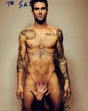 Adam Levine Signed Autographed 8x10 Photo Maroon 5 Shirtless COA VD