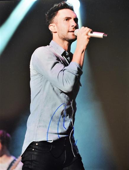 Adam Levine Signed - Autographed Maroon 5 Concert 11x14 inch Photo - Guaranteed to pass BAS - The Voice Judge
