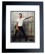 Adam Levine Signed - Autographed Maroon 5 Concert 11x14 inch Photo - The Voice Judge BLACK CUSTOM FRAME - Guaranteed to pass PSA or JSA