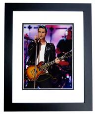 Adam Levine Signed - Autographed Maroon 5 Concert 8x10 inch Photo BLACK CUSTOM FRAME - Guaranteed to pass PSA or JSA - The Voice Judge