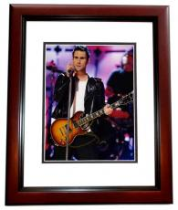 Adam Levine Signed - Autographed Maroon 5 Concert 8x10 inch Photo MAHOGANY CUSTOM FRAME - Guaranteed to pass PSA or JSA - The Voice Judge