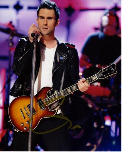 Adam Levine Signed - Autographed Maroon 5 Concert 8x10 inch Photo - Guaranteed to pass PSA or JSA - The Voice Judge