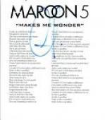 "Adam Levine Signed Autographed MAROON 5 ""Makes Me Wonder"" Lyric Sheet COA VD"