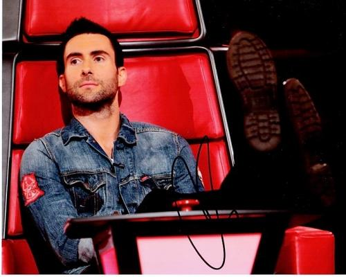Adam Levine Signed - Autographed Maroon 5 - The Voice Judge 8x10 inch Photo - Guaranteed to pass PSA or JSA