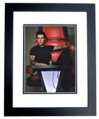 Adam Levine Signed - Autographed The Voice Judge - Maroon 5 8x10 inch Photo BLACK CUSTOM FRAME - Guaranteed to pass PSA/DNA or JSA