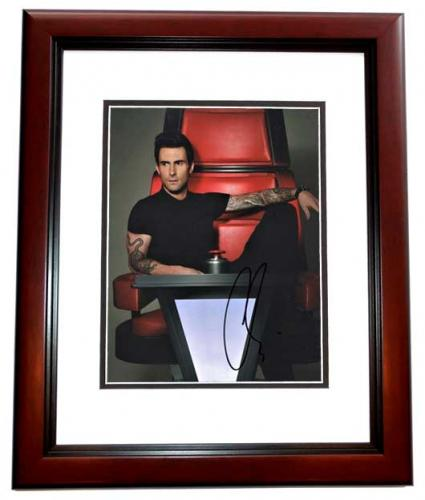 Adam Levine Signed - Autographed The Voice Judge - Maroon 5 8x10 inch Photo MAHOGANY CUSTOM FRAME - Guaranteed to pass PSA/DNA or JSA