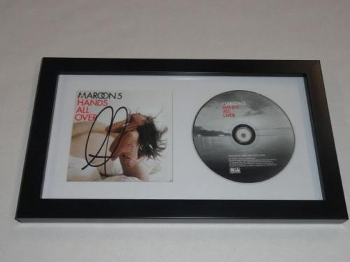 "Adam Levine Signed Framed Maroon 5 ""hands All Over"" Cd Autographed Proof Jsa Coa"