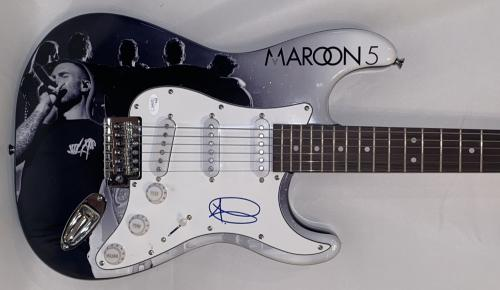 Adam Levine Signed Full Size Custom Electric Guitar Maroon 5 Autograph Jsa Coa
