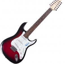 Adam Levine Signed Pearl Pickguard 12-string Guitar UACC RD COA AFTAL