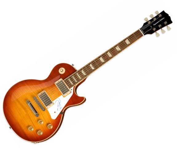 Adam Levine The Voice Autographed Signed Sunburst Guitar AFTAL UACC RD