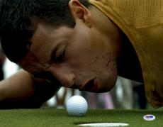 """Adam Sandler Autographed 11"""" x 14"""" Happy Gilmore Yelling at Ball Photograph - PSA/DNA"""