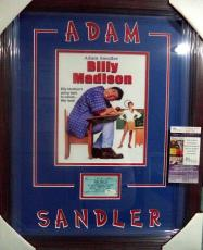 Adam Sandler Billy Madison Movie Jsa Coa Signed Autograph Double Matted & Framed