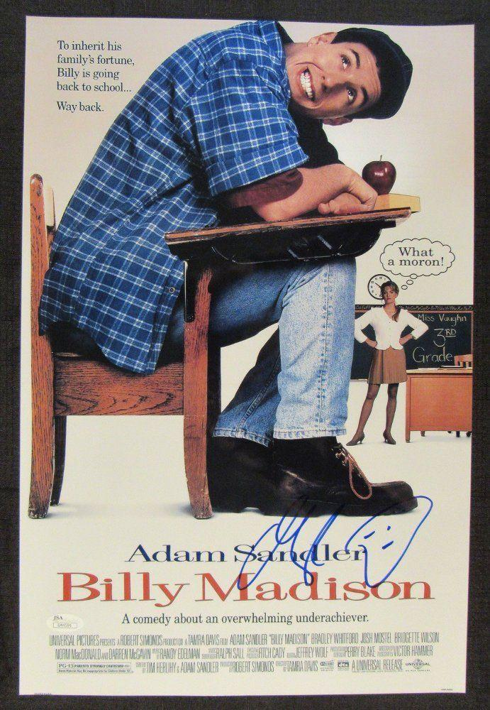 adam sandler signed auto autograph 12x18 billy madison