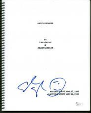 Adam Sandler Signed Autographed 8x11 Happy Gilmore Script JSA Authentic