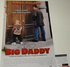 Adam Sandler Signed 'big Daddy' 12x18 Movie Poster Photo Psa/dna Coa V73738