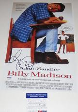 Adam Sandler Signed Billy Madison Photo Movie Poster Psa/dna Coa #p64065