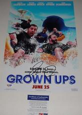 Adam Sandler Signed Grown Ups Photo Movie Poster Psa/dna Coa #p64064