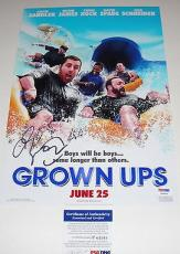 Adam Sandler Signed Grown Ups Photo Movie Poster Psa/dna Coa #p64069